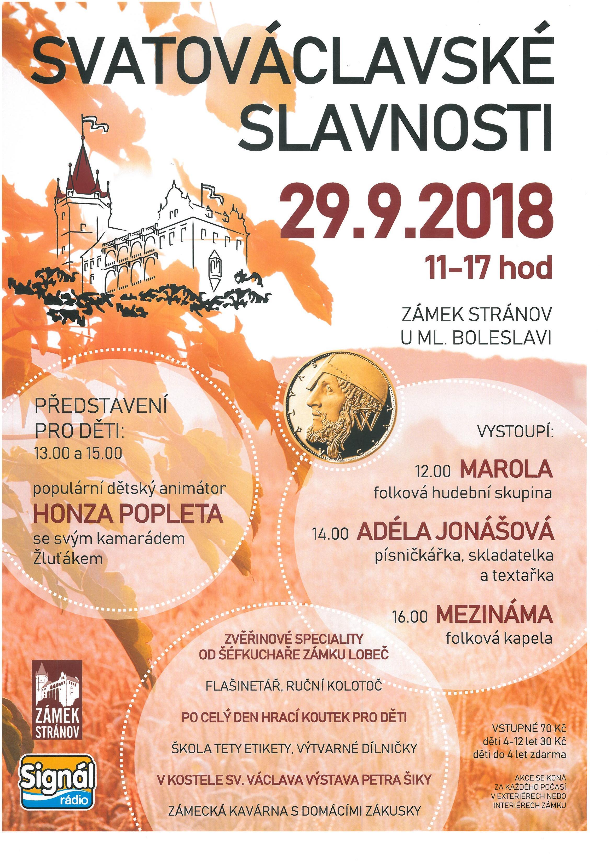 imager Svatováclavské slavnosti na zámku Stránov